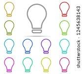 bulb icon in multi color....