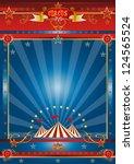 fantastic blue circus. a circus ... | Shutterstock . vector #124565524