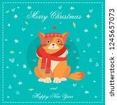happy new year greeting card... | Shutterstock .eps vector #1245657073