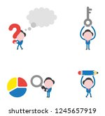 vector illustration set of... | Shutterstock .eps vector #1245657919
