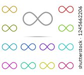 infinity sign icon in multi...