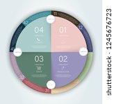 circle infogrfphic. circle...   Shutterstock .eps vector #1245676723
