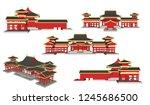 vector building bouw plaat... | Shutterstock .eps vector #1245686500