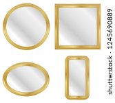 mirror in a gold frame  a set...   Shutterstock .eps vector #1245690889