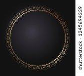 decorative round frame for... | Shutterstock .eps vector #1245694339