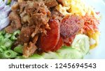 rice mixed with shrimp paste | Shutterstock . vector #1245694543