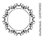 line icon design of monogram... | Shutterstock .eps vector #1245704503