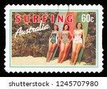 australia   circa 2013  a stamp ...   Shutterstock . vector #1245707980
