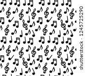 music notes seamless pattern | Shutterstock .eps vector #1245725290