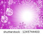 illustration of a decorated... | Shutterstock . vector #1245744403