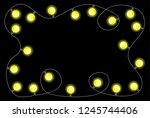 illustration of a chain of... | Shutterstock . vector #1245744406
