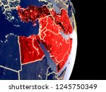 satellite view of middle east... | Shutterstock . vector #1245750349