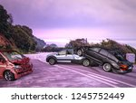 car accident  three crashed... | Shutterstock . vector #1245752449