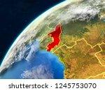 congo on realistic model of... | Shutterstock . vector #1245753070