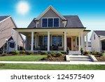 beige new england style... | Shutterstock . vector #124575409