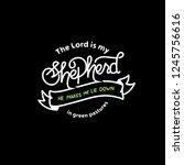 my shepherd handlettering...   Shutterstock .eps vector #1245756616