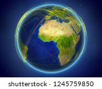 togo from space on planet earth ... | Shutterstock . vector #1245759850