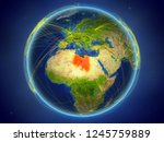 libya from space on planet... | Shutterstock . vector #1245759889