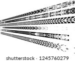 vector print textured tire... | Shutterstock .eps vector #1245760279