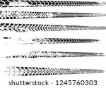 vector print textured tire... | Shutterstock .eps vector #1245760303