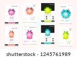 abstract vector business... | Shutterstock .eps vector #1245761989