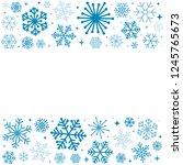 decorative snowflake on white... | Shutterstock .eps vector #1245765673