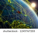 haiti from space on realistic... | Shutterstock . vector #1245767203