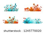 plant leaves and flowers. set... | Shutterstock .eps vector #1245770020