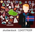 iceland concept background ... | Shutterstock .eps vector #1245779209