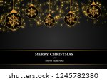 christmas theme with black... | Shutterstock . vector #1245782380