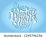 beautiful handwritten... | Shutterstock .eps vector #1245796156