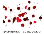 hand drawn set of red ink spots ... | Shutterstock .eps vector #1245799270