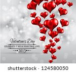 valentine's day party... | Shutterstock .eps vector #124580050