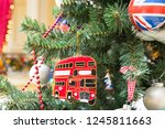 christmas tree decoration with...   Shutterstock . vector #1245811663
