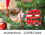 christmas tree decoration with...   Shutterstock . vector #1245811666