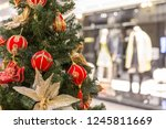 christmas tree decoration in...   Shutterstock . vector #1245811669