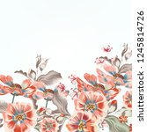 floral vector background with... | Shutterstock .eps vector #1245814726