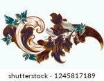 vector vintage victorian... | Shutterstock .eps vector #1245817189