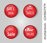red price tag balls vector... | Shutterstock .eps vector #1245837979