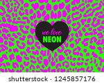 neon leopard background texture....   Shutterstock .eps vector #1245857176