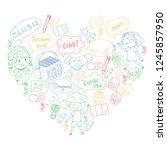 language school for adult  kids.... | Shutterstock .eps vector #1245857950