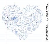 language school for adult  kids.... | Shutterstock .eps vector #1245857959