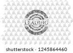 leading realistic grey emblem...   Shutterstock .eps vector #1245864460