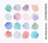 set of colorful watercolor hand ...   Shutterstock .eps vector #1245869830