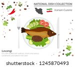 iranian cuisine. middle east... | Shutterstock .eps vector #1245870493