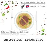 north korean cuisine. asian... | Shutterstock .eps vector #1245871750