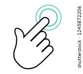 finger click  hand icon. vector ... | Shutterstock .eps vector #1245872206