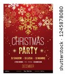beautiful merry christmas party ... | Shutterstock .eps vector #1245878080