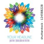 colorful flower illustration | Shutterstock .eps vector #124588228