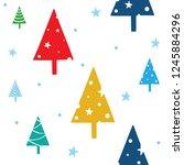 seamless christmas pattern.... | Shutterstock .eps vector #1245884296